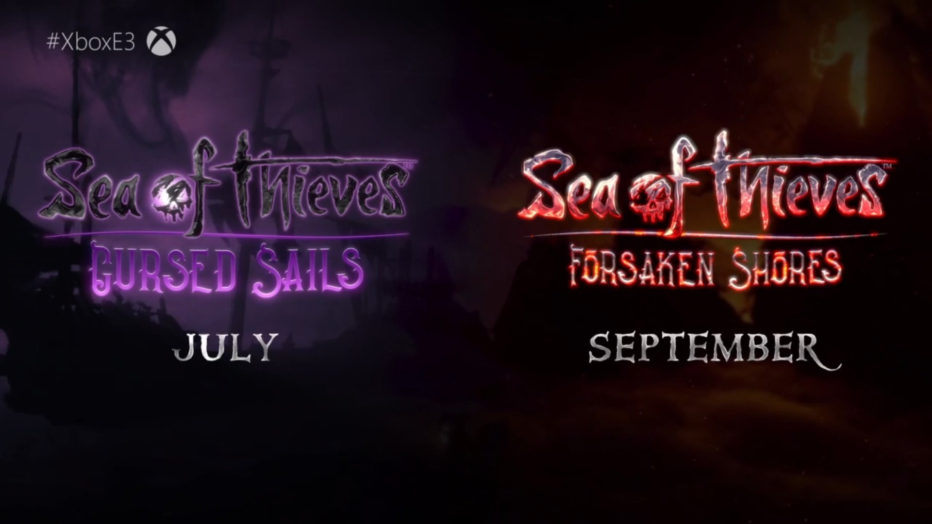 Sea of Thieves Cursed Sails and Forsaken Shores mises à jour à venir en Juillet, Septembre