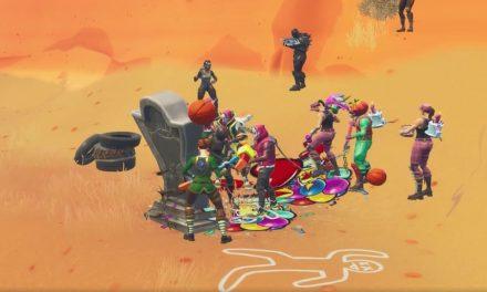Les joueurs de Fortnite continuent d'essayer d'organiser des funérailles à la nouvelle pierre tombale… et tout se passe aussi bien qu'on pourrait s'y attendre…