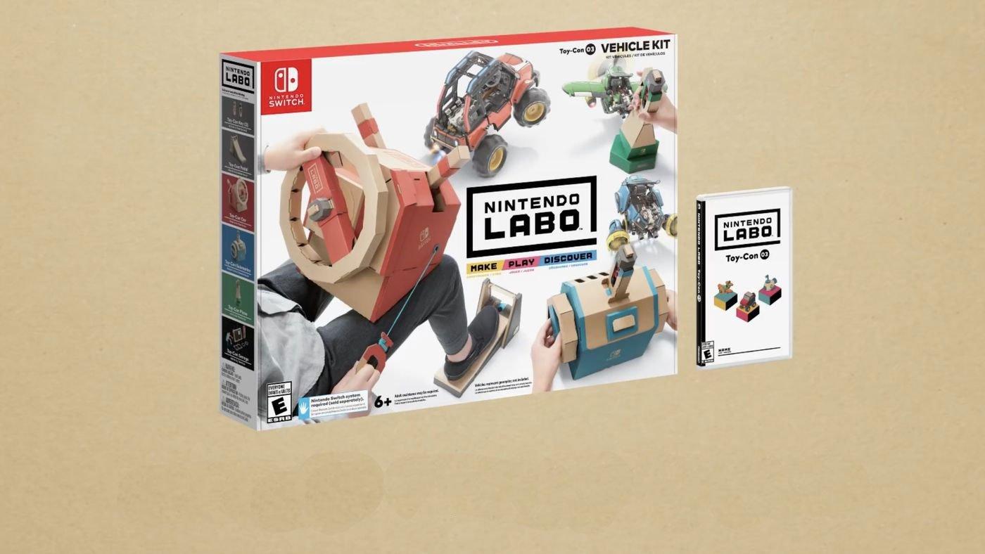 Contrôlez une voiture, un avion et un sous-marin dans le prochain kit Nintendo Labo