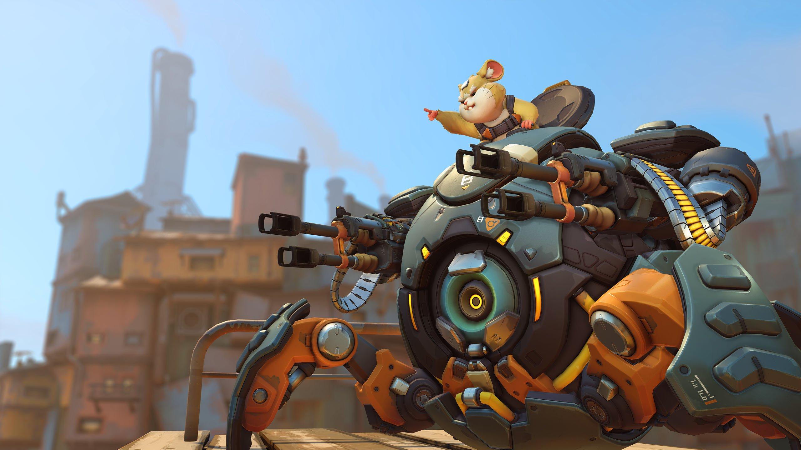 Le nouveau héros hamster d'Overwatch, Wrecking Ball, est sorti maintenant.