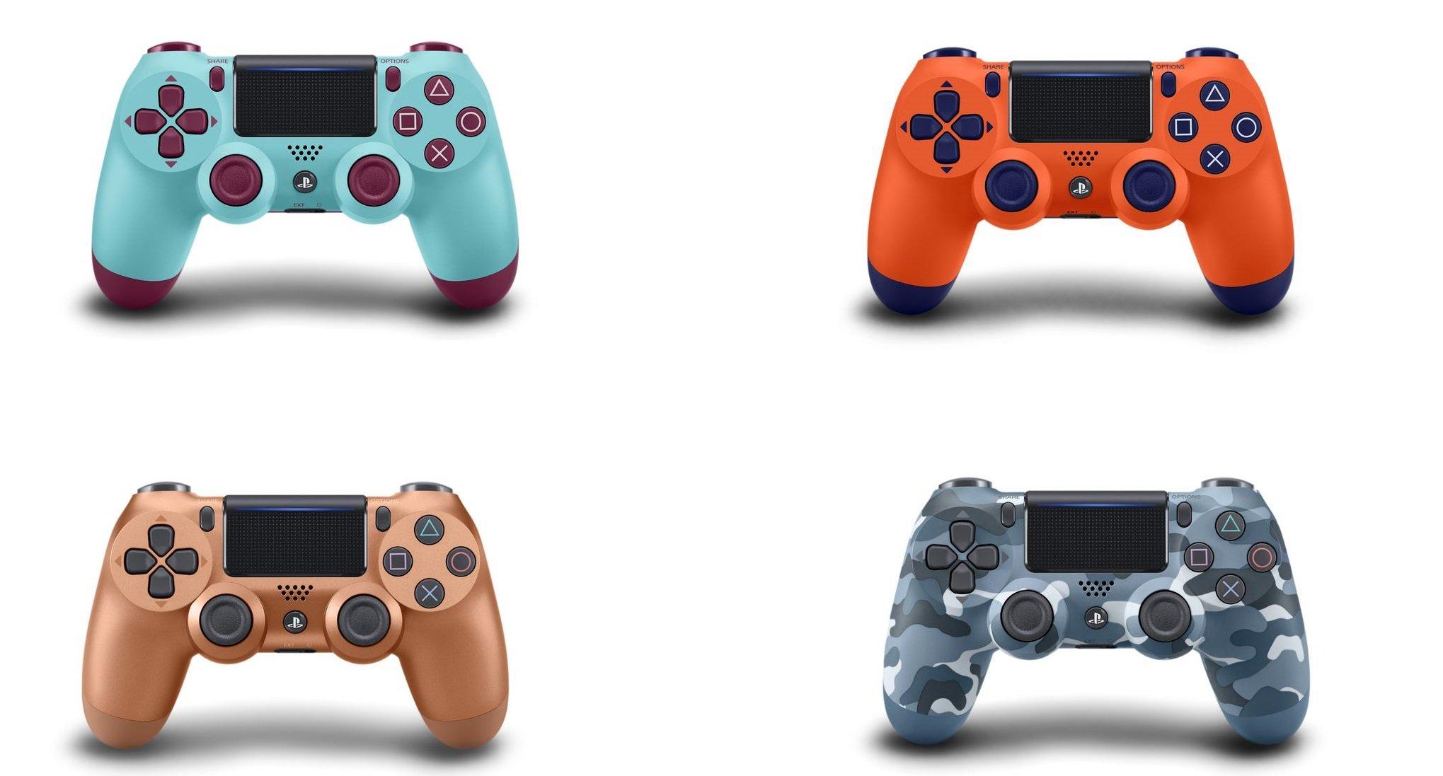 Sony dévoile quatre nouvelles couleurs DualShock 4