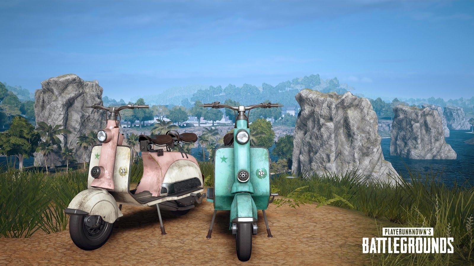 PUBG reçoit un nouveau fusil et un scooter pour Sanhok.
