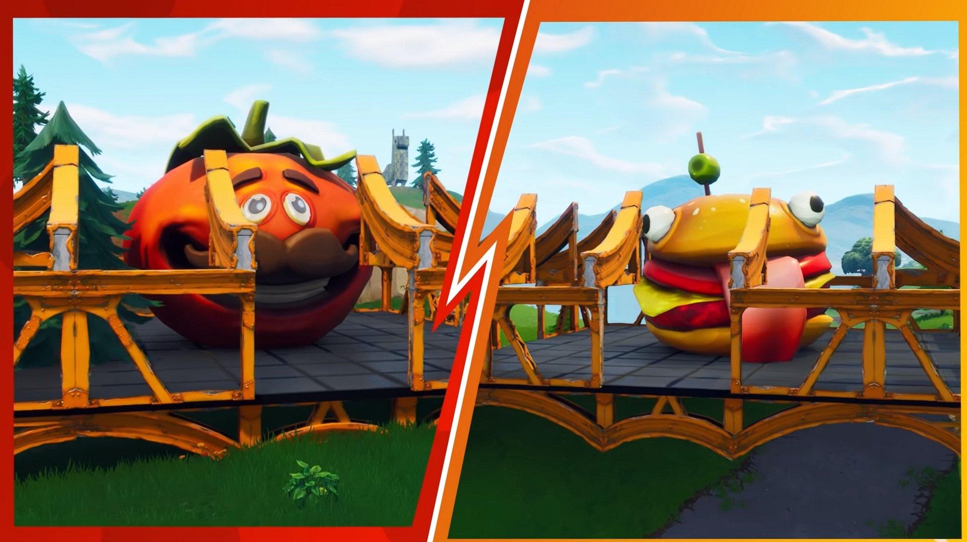 Durr Burger s'attaque à la fosse à pizza dans Food Fight LTM de Fortnite