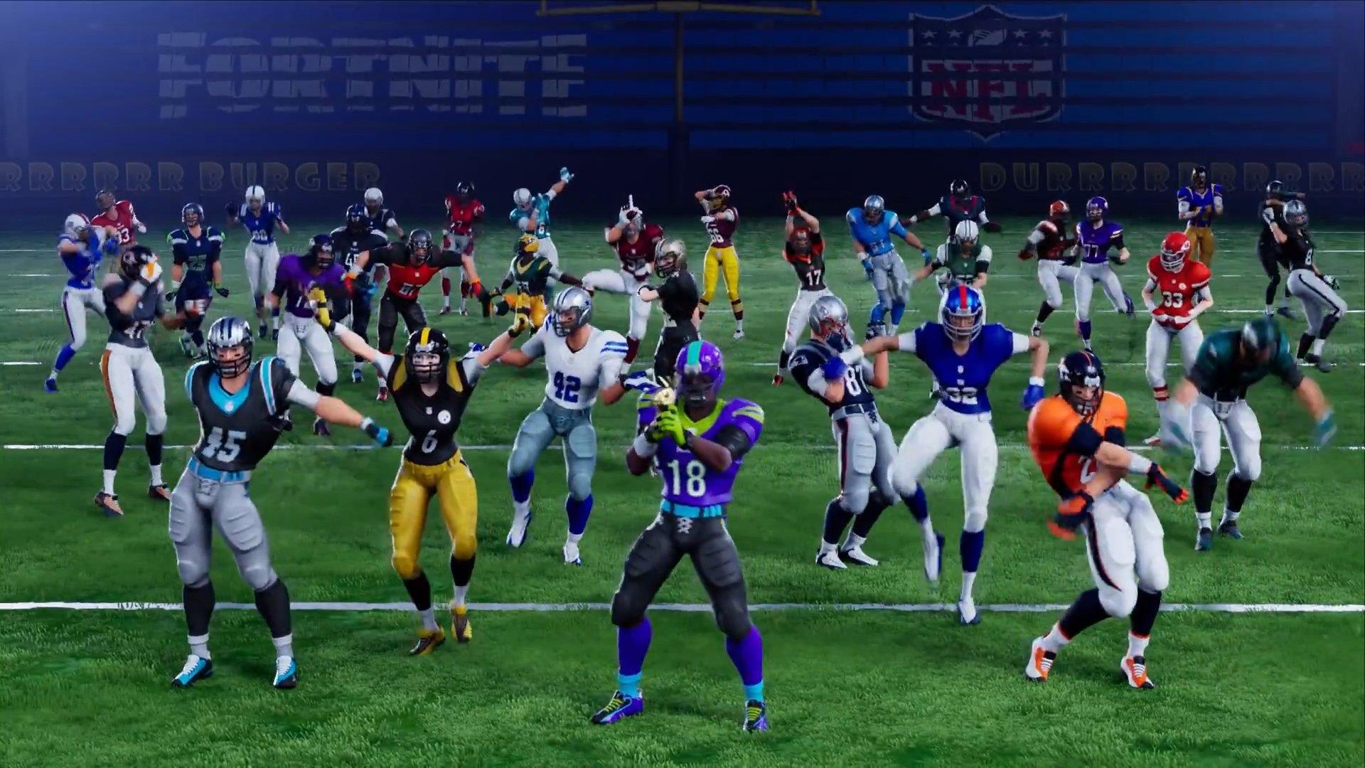 Fortnite s'associe à la NFL pour des tenues sur le thème du football