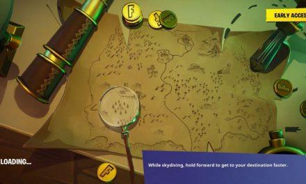 Recherchez l'endroit où le couteau pointe sur l'écran de chargement de la carte au trésor dans Fortnite – Saison 8 – Défi Semaine 6
