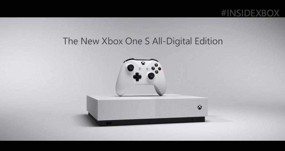 Xbox One S All Digital Edition date de sortie, prix révélé