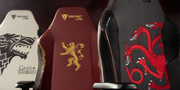 Célébrez la saison 8 de Game of Thrones avec ces chaises de jeu incroyables.