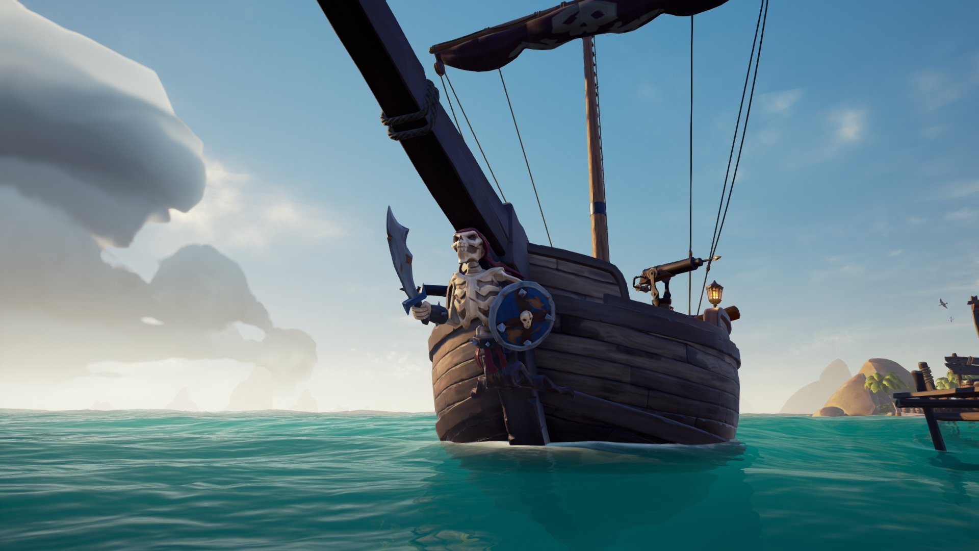 Comment faire pour obtenir la colonne vertébrale figure de proue dans la mer des voleurs