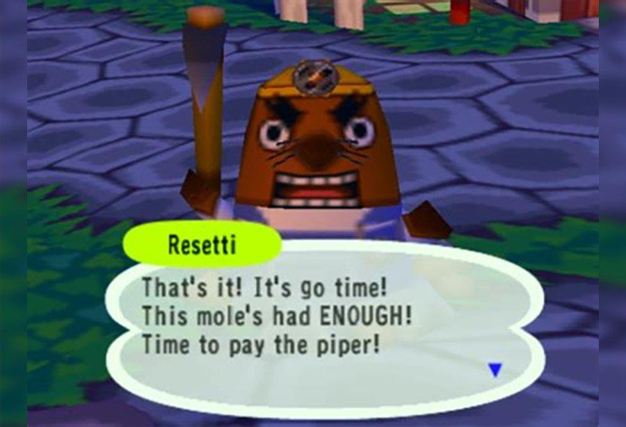 Animal Crossing New Horizons' a fait virer M. Resetti.