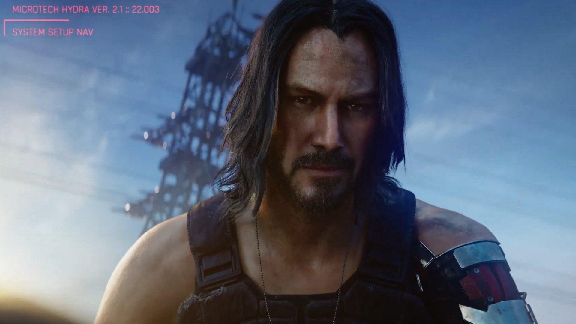 Cyberpunk 2077 révèle Keanu Reeves, date de sortie.