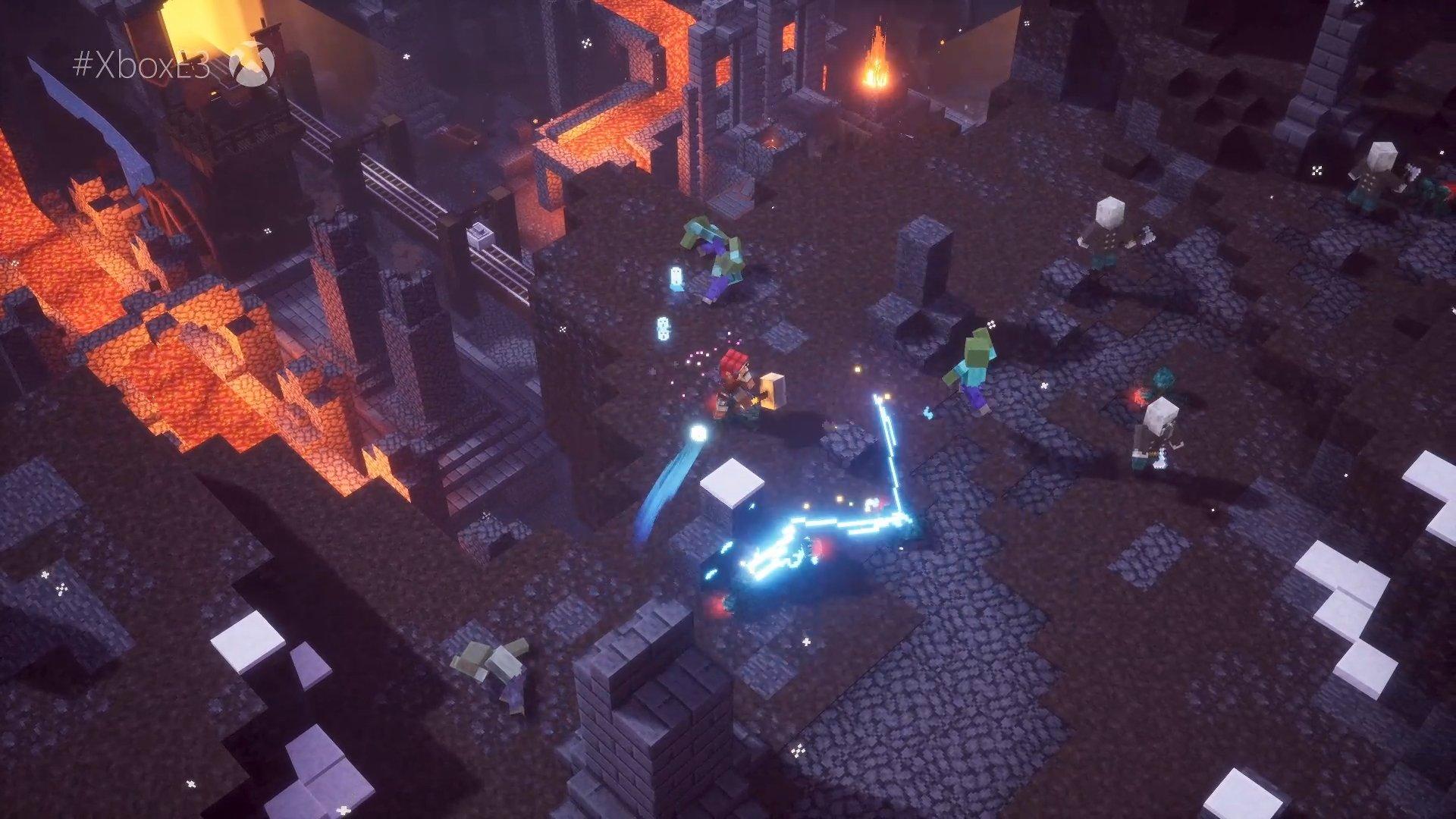 Donjons Minecraft apportant 4 joueurs Diablo-like au printemps 2020
