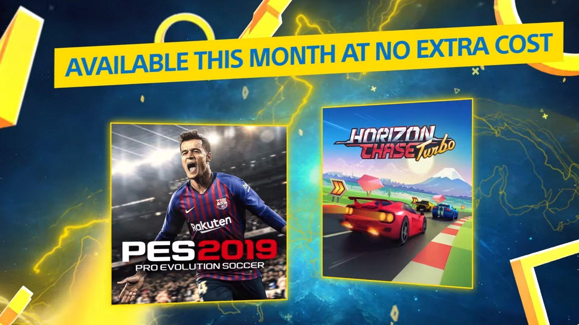 Les jeux PS Plus pour juillet sont annoncés sous le nom de PES 2019 et Horizon Chase Turbo.