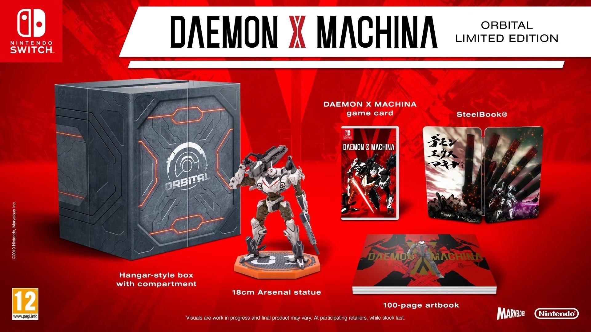 Daemon X Machina édition limitée est livré avec un mécanisme (pour les Européens et les Australiens)