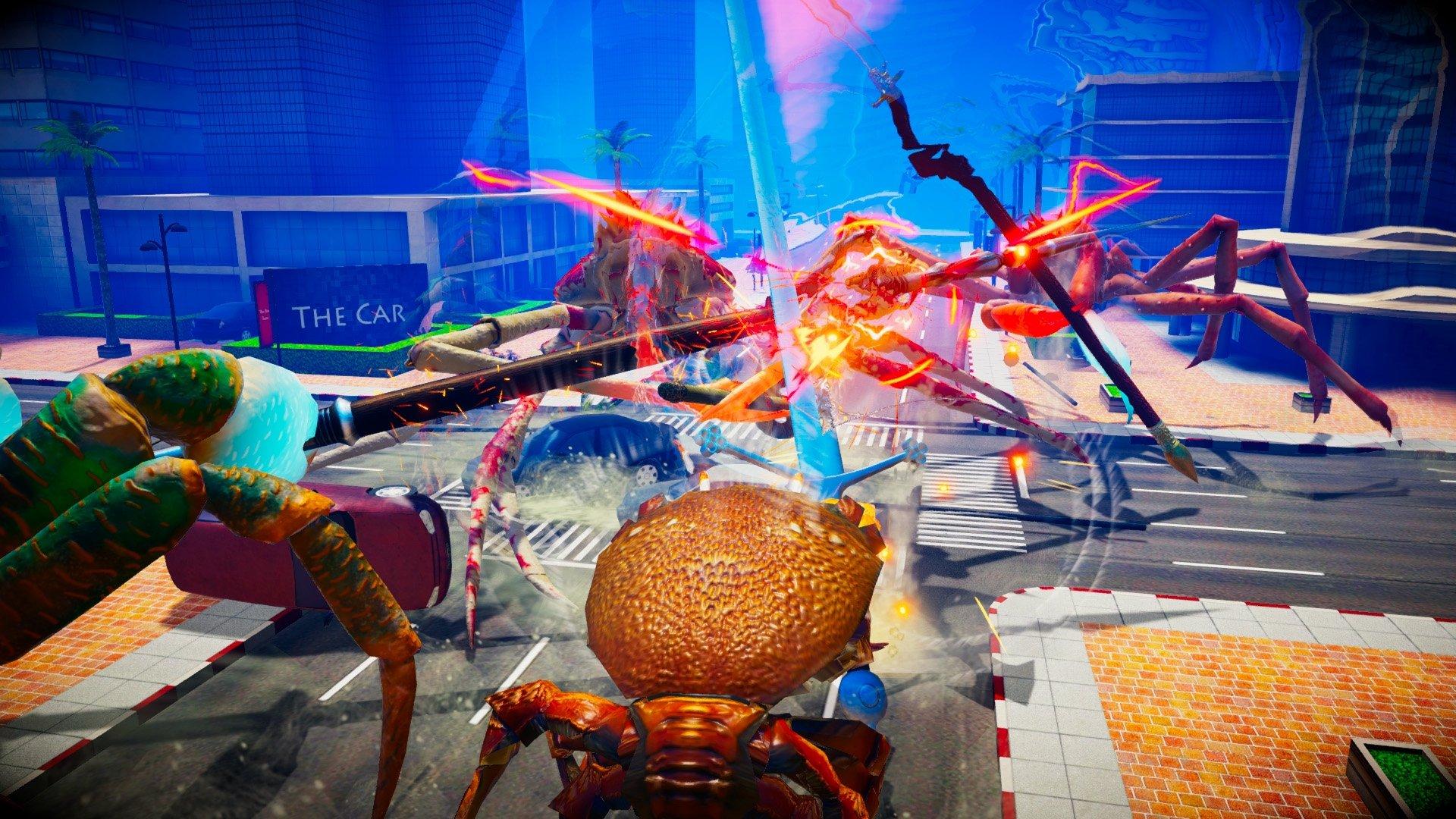 Duel à mort avec des crabes géants ennemis dans Fight Crab