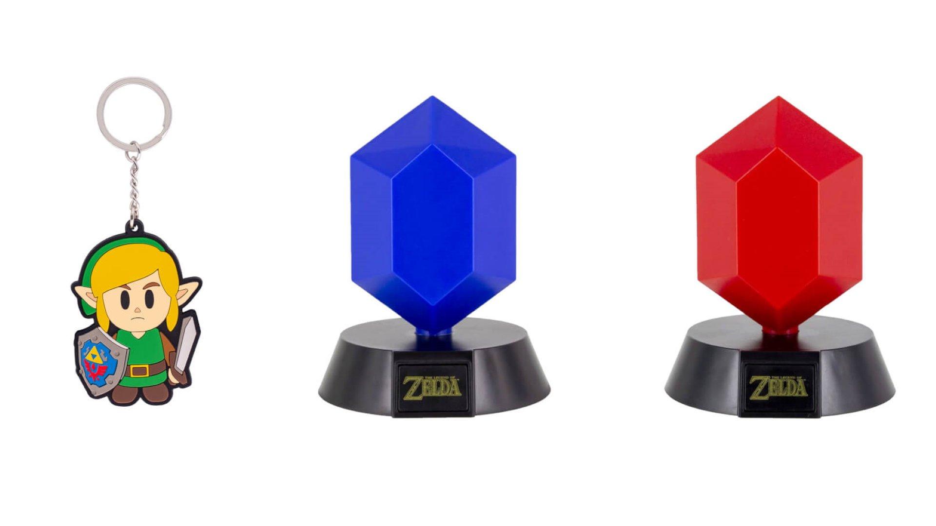 UK bonus de pré-commande pour Zelda : Link's Awakening comprend un joli porte-clés et une lampe en roupies.