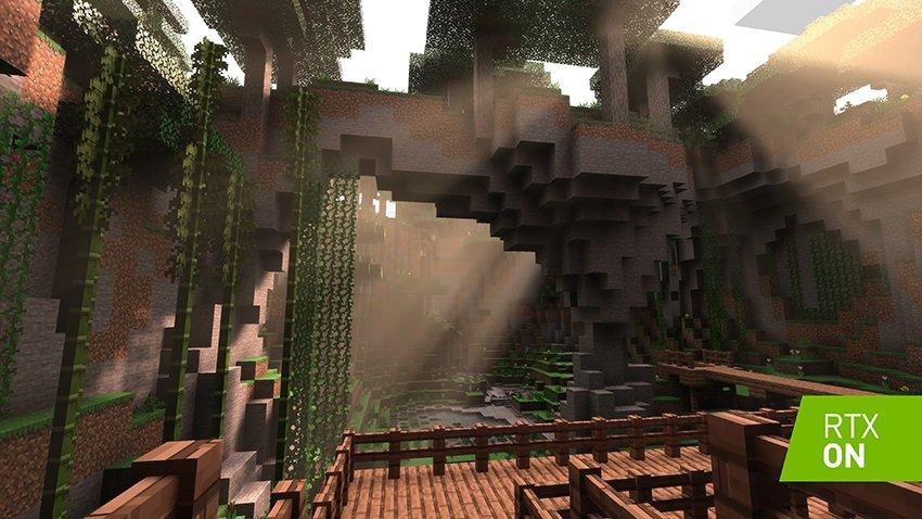 Le support RTX éclaire le traçage des rayons Minecraft