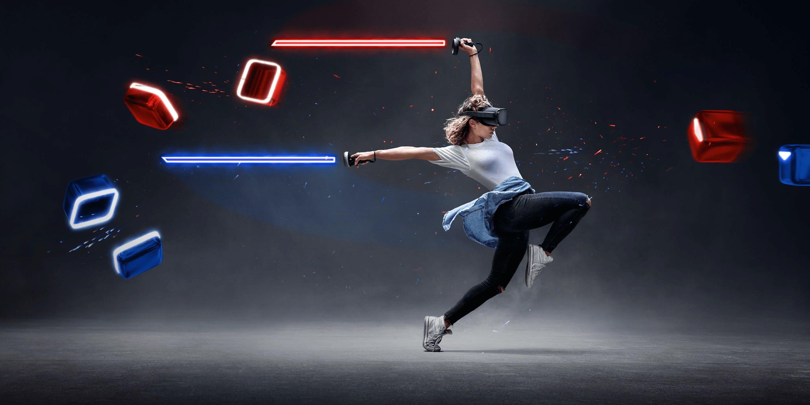 Beat Saber mod ajoute 90 couloirs pour vous permettre de sprinter à travers le gant VR.