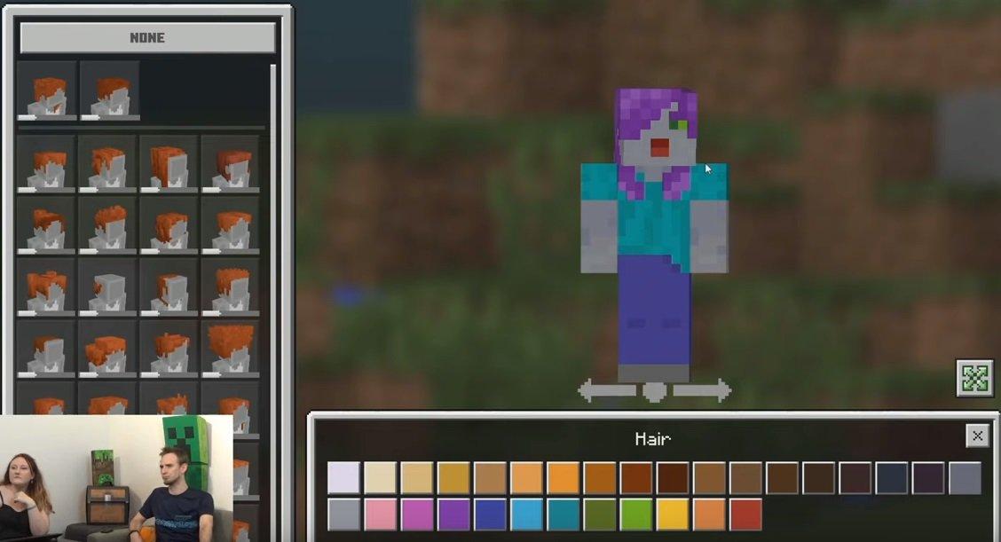 Minecraft créateur de personnages ajoute des centaines de personnalisations