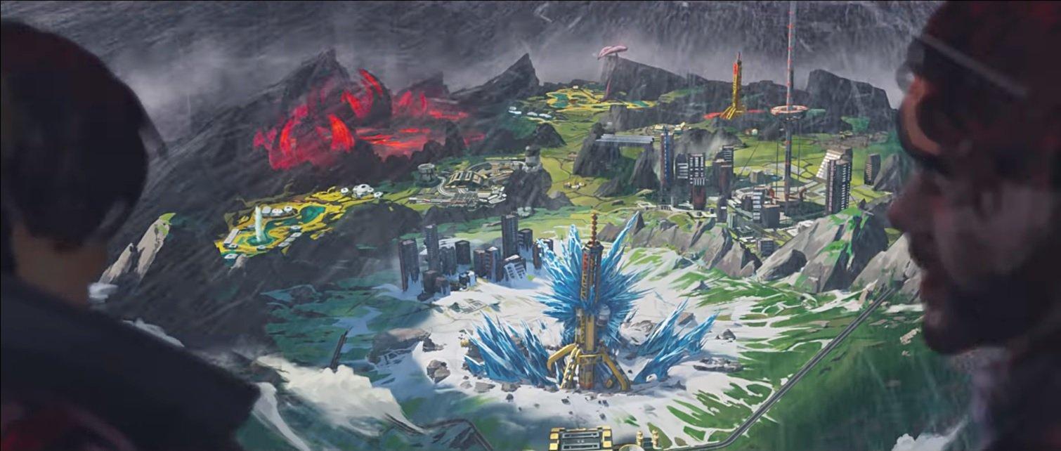 Apex Legends World's Edge carte premier regard dans la nouvelle bande-annonce