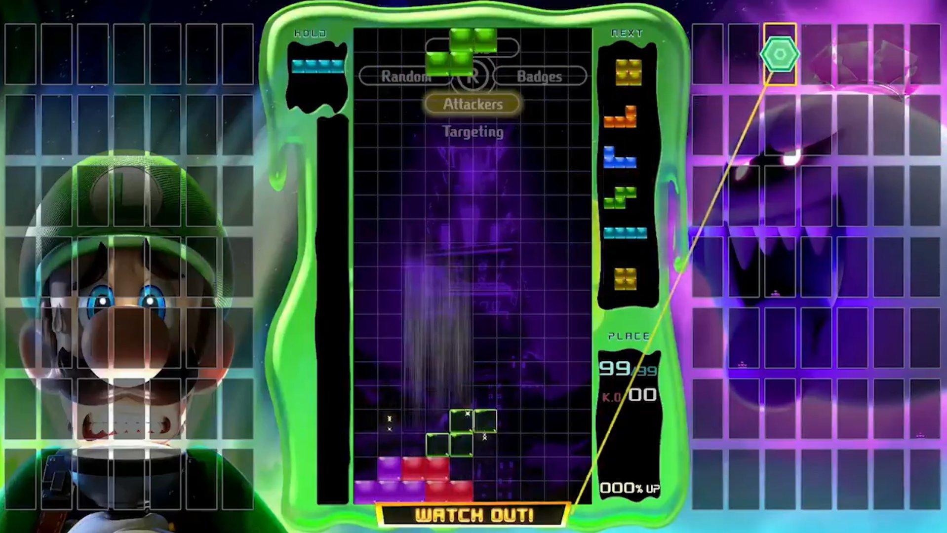 Le multisegment Luigi's Mansion 3 en route pour Tetris 99