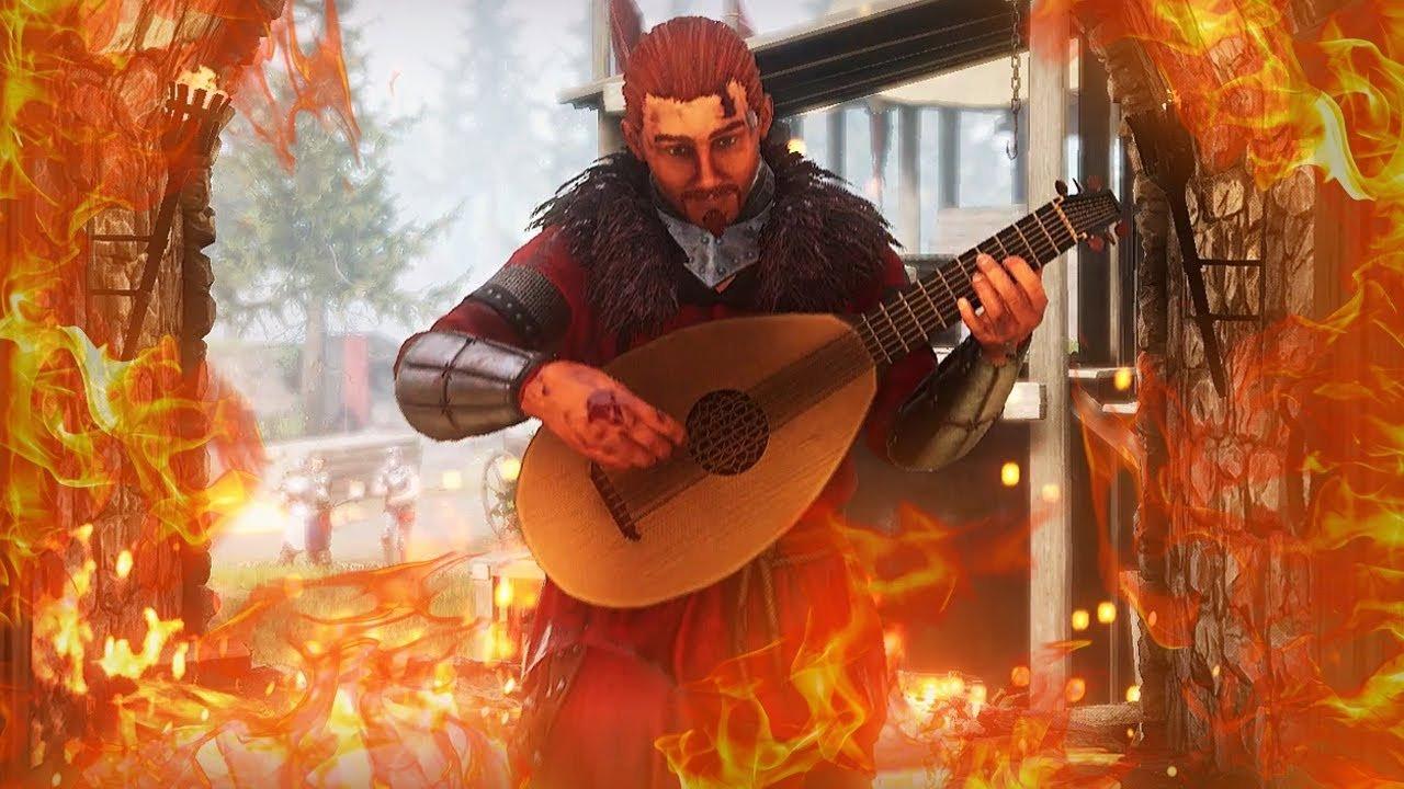 Les joueurs se glissent dans l'écran de sélection des personnages de Mordhau avec des luths.