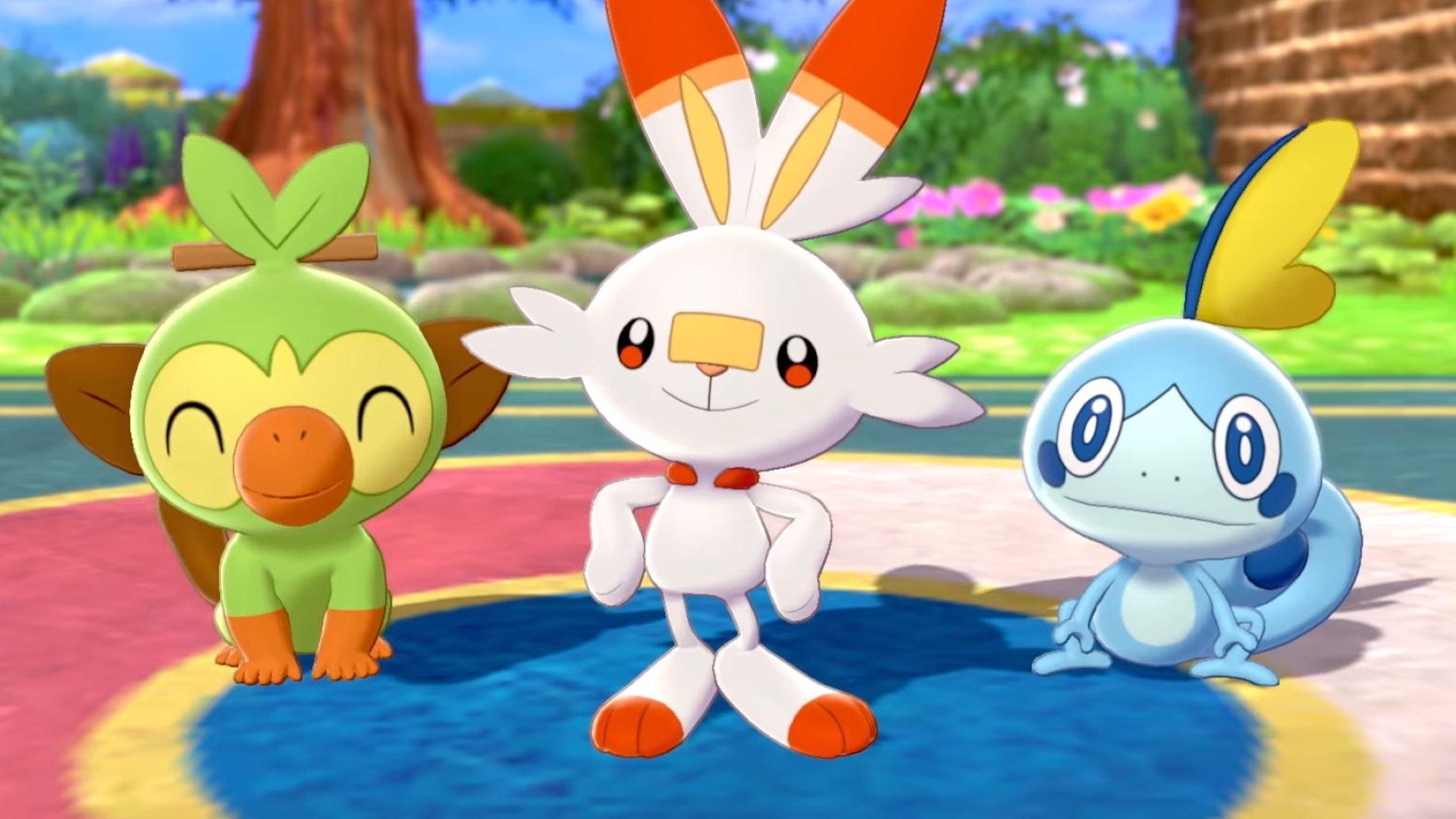 Démarreurs et évolutions de l'épée et du bouclier Pokémon