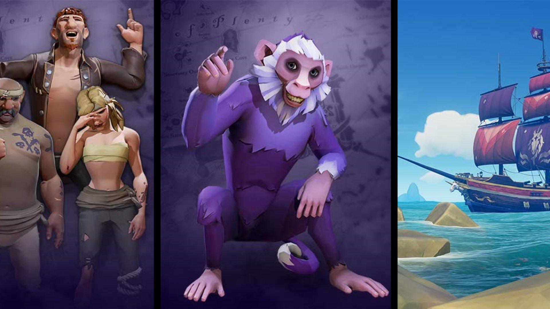 Obtenez un singe animal de compagnie gratuit dans Sea of Thieves avec Twitch Prime