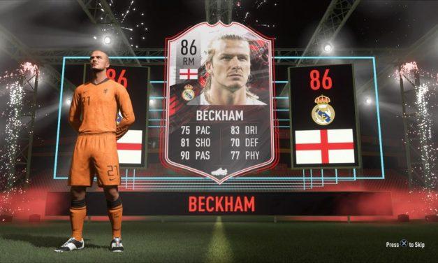 EA vient de donner à chaque joueur de FIFA 21 une carte David Beckham gratuite