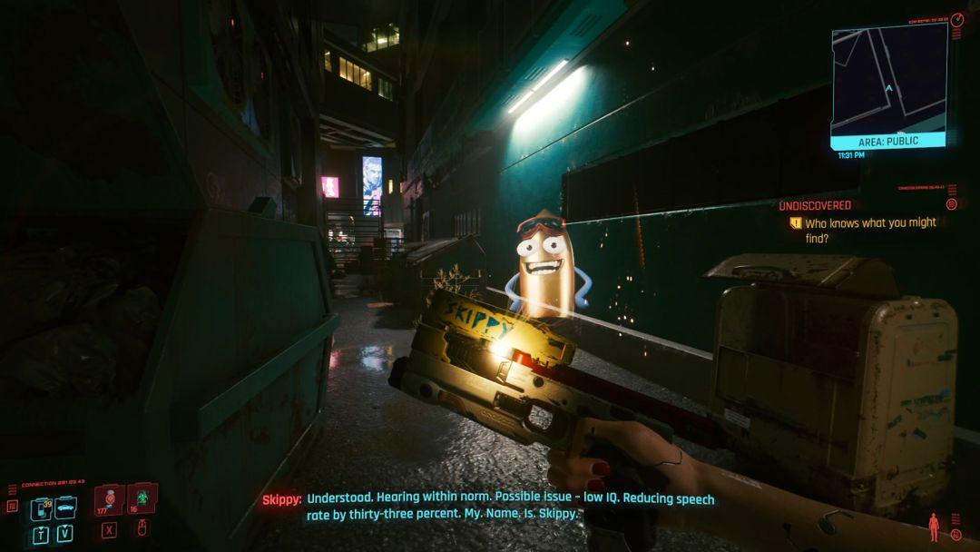 Cyberpunk 2077 Skippy expliqué : Comment fonctionne le pistolet intelligent et ce que vous devez faire pendant le tir à la mitrailleuse