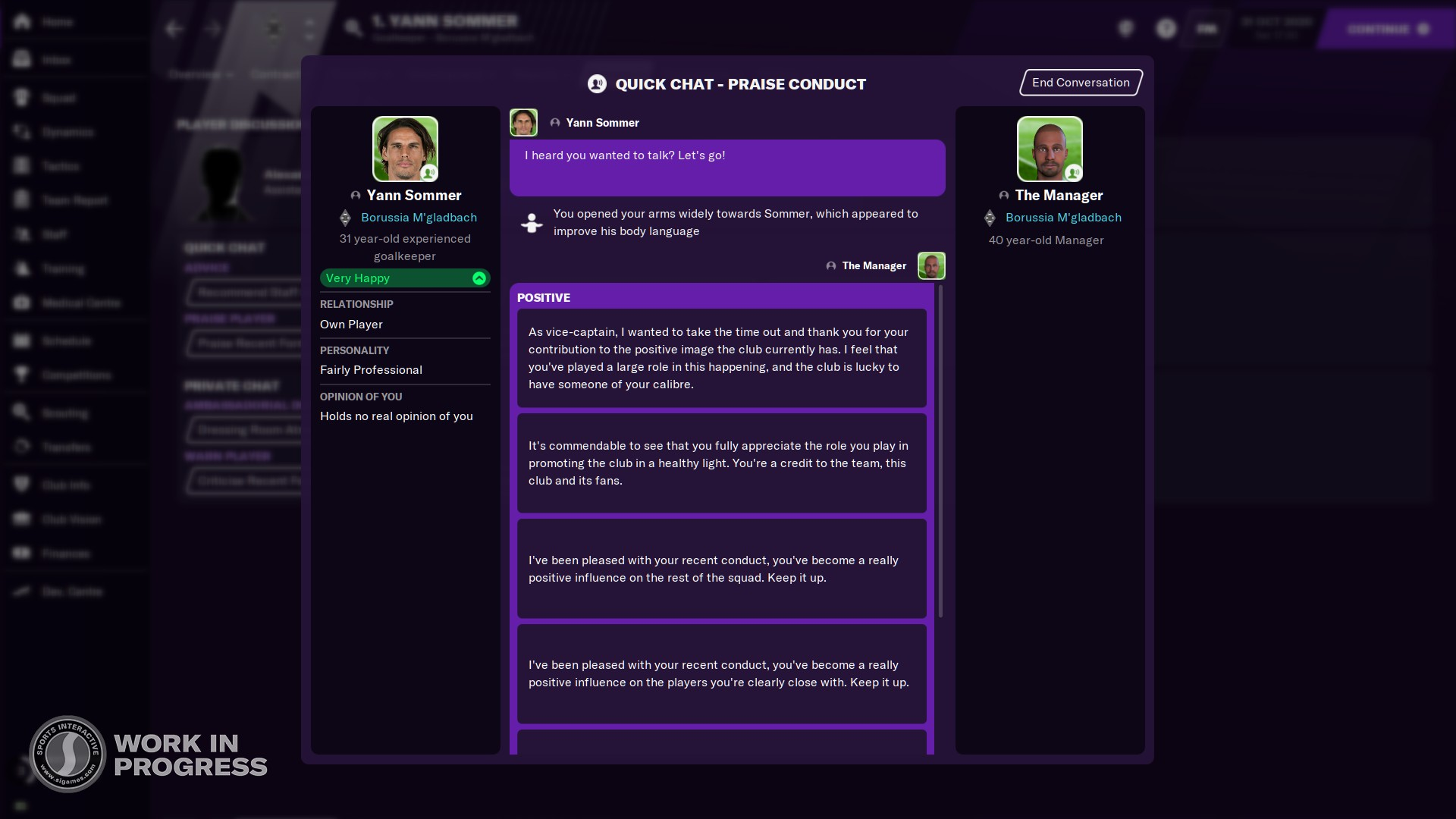 Football Manager 2021's natural gestures expand the series' RPG potential