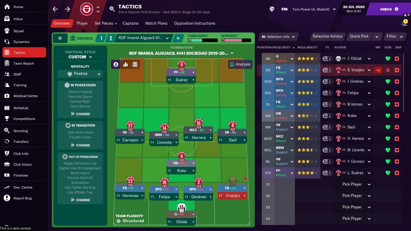 Les meilleures tactiques dans Manager Football 2021