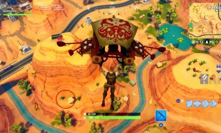 Recherche entre une oasis, une voûte rocheuse et des dinosaures – Fortnite Saison 5 Saison 5 Semaine 2 Challenge