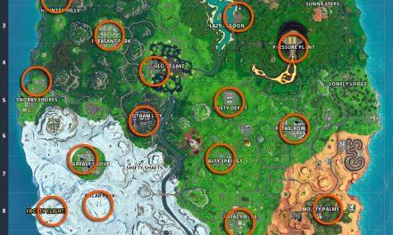Emplacements du champ de tir de Fortnite : Où frapper les cibles faciles et dures du champ de tir