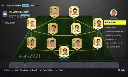 FIFA 20 The Whole Nine Yards SBC : La solution la moins chère au Squad Building Challenge