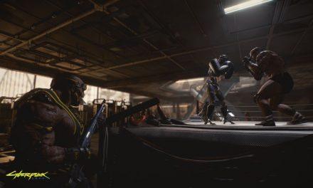 Cyberpunk 2077 captures d'écran de combat regardent un hall de cyber-goons