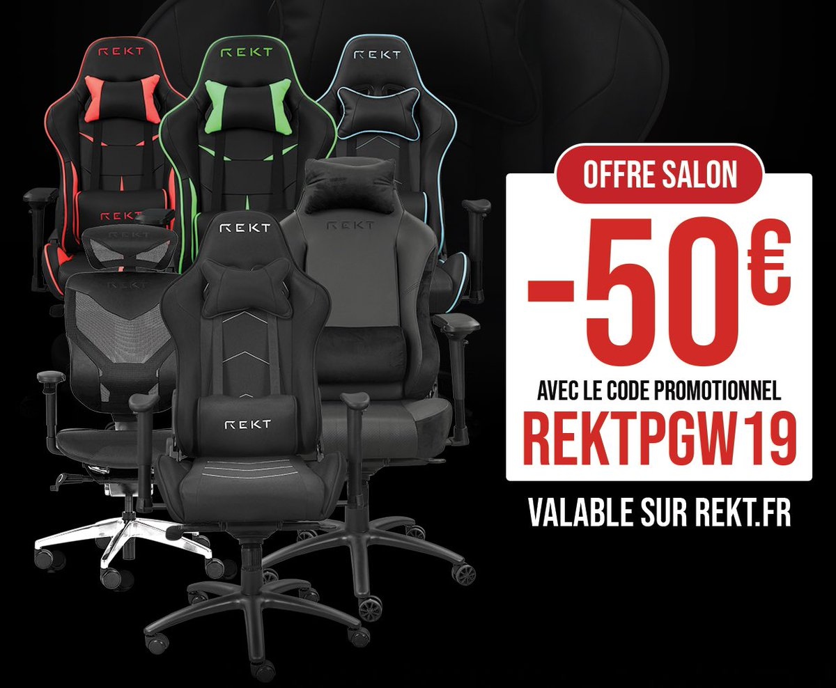 Code promo Rekt - Chaise Gaming