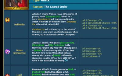 Raid Shadow Legends : Mise à jour 3.30 – Points forts