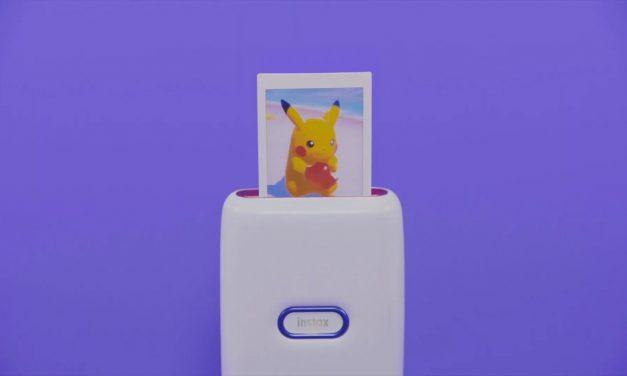 Imprimez vos Poke Snaps en polaroid avec le lien spécial Instax Mini de Fujifilm.