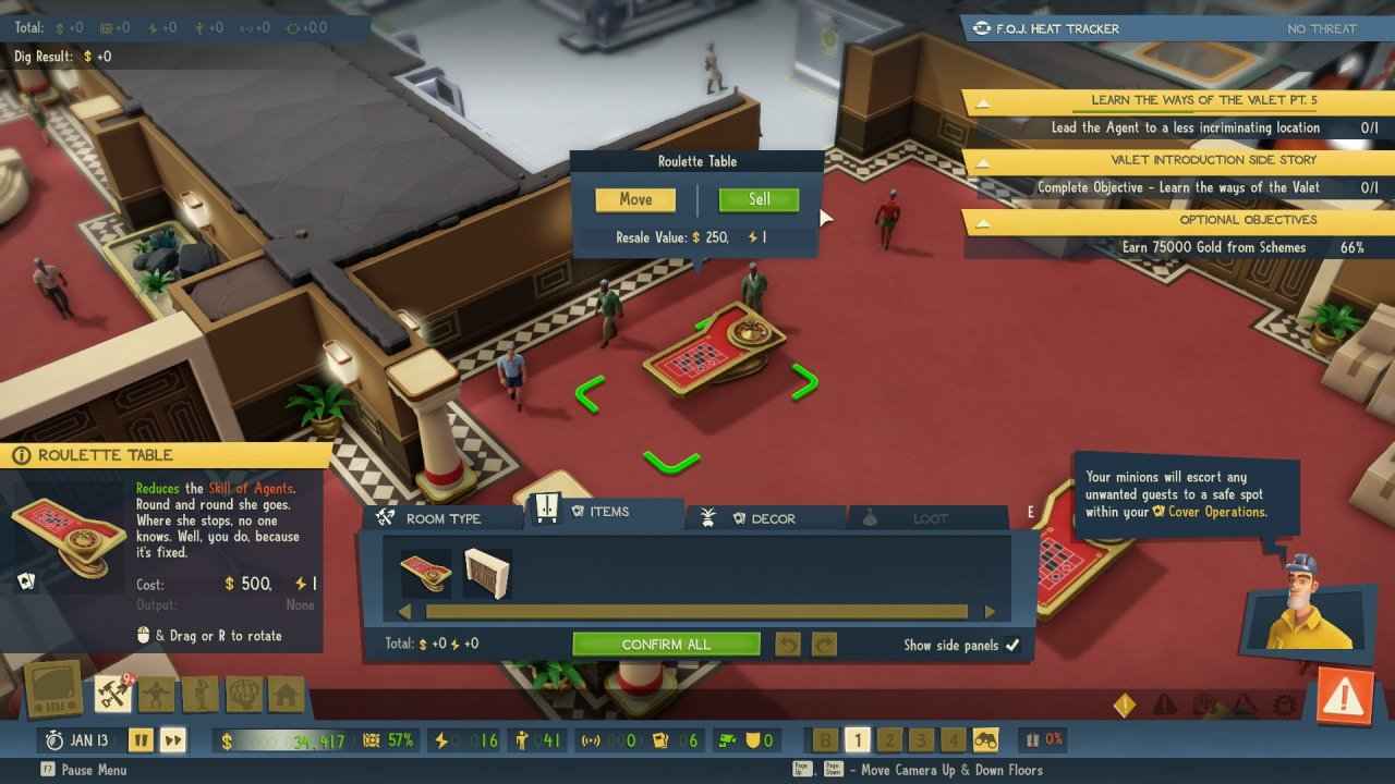 How to move or sell things in Evil Genius 2