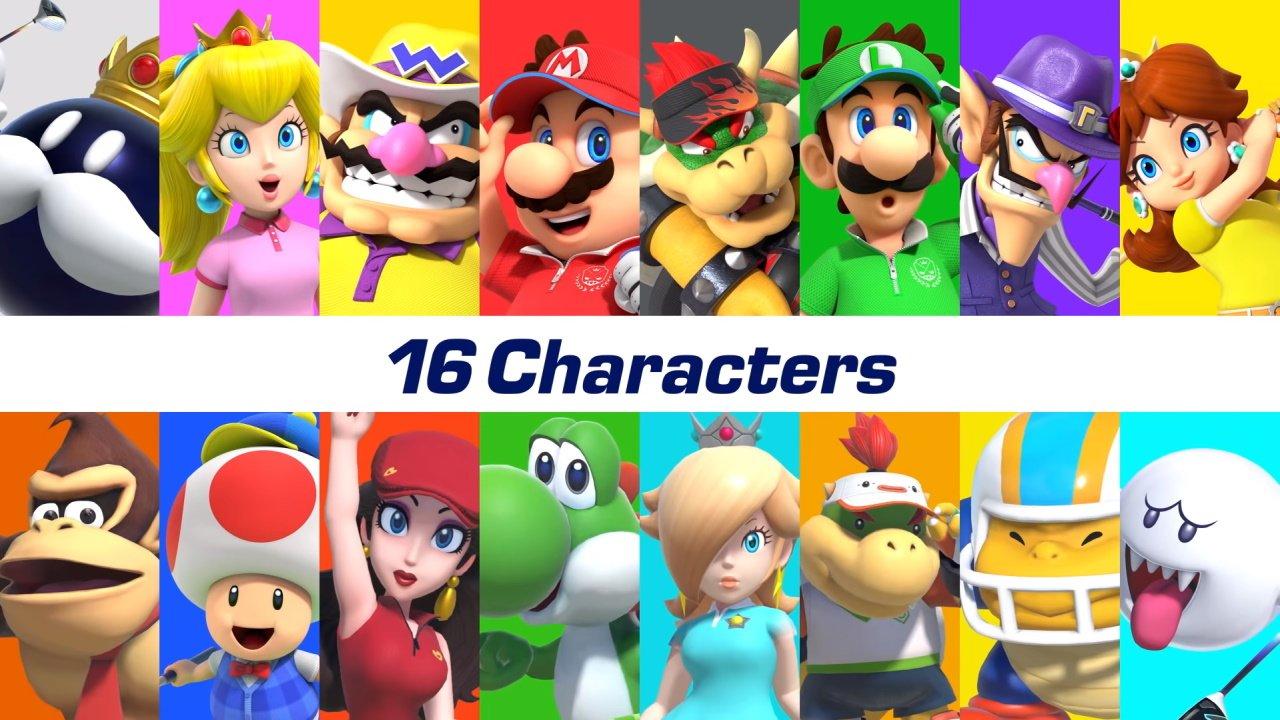 Mario Golf: Super Rush character roster