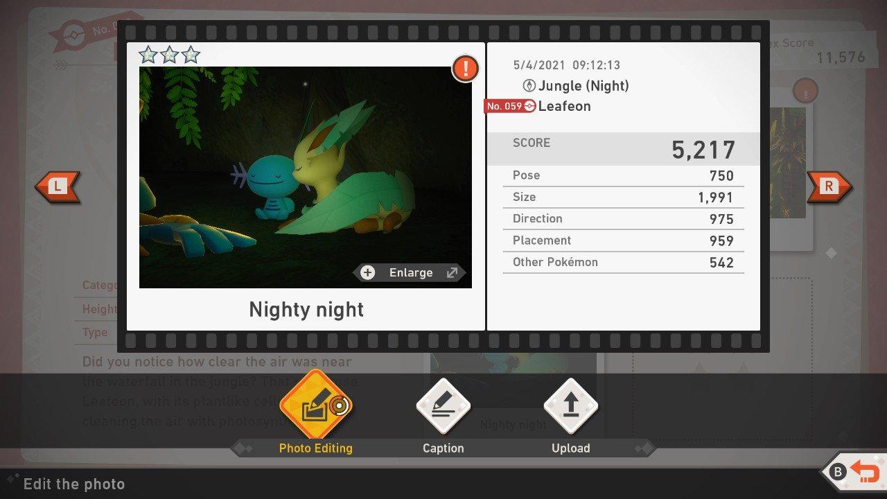 New Pokemon Snap scoring system ratings