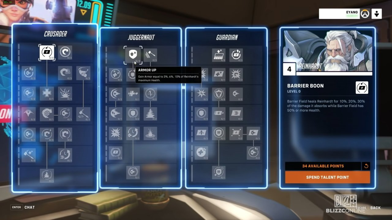 Overwatch 2 talent system skill tree