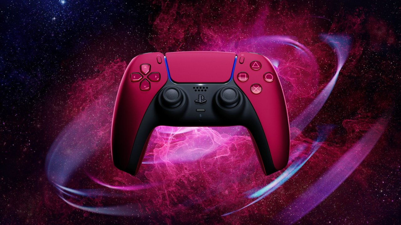 PS5 red controller Dualsense cosmic red design