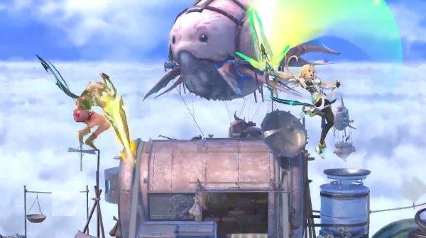 Pyra Mythra moveset smash ultimate aerials