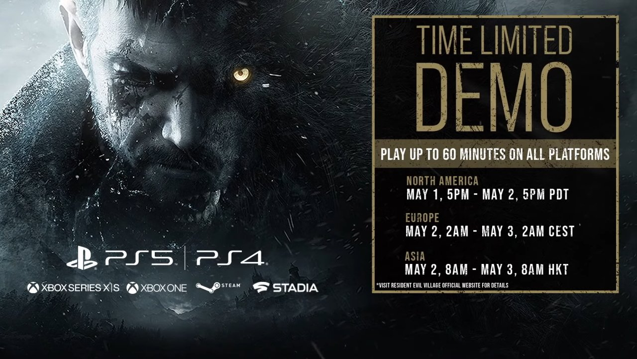 Resident Evil Village gameplay demo times and dates