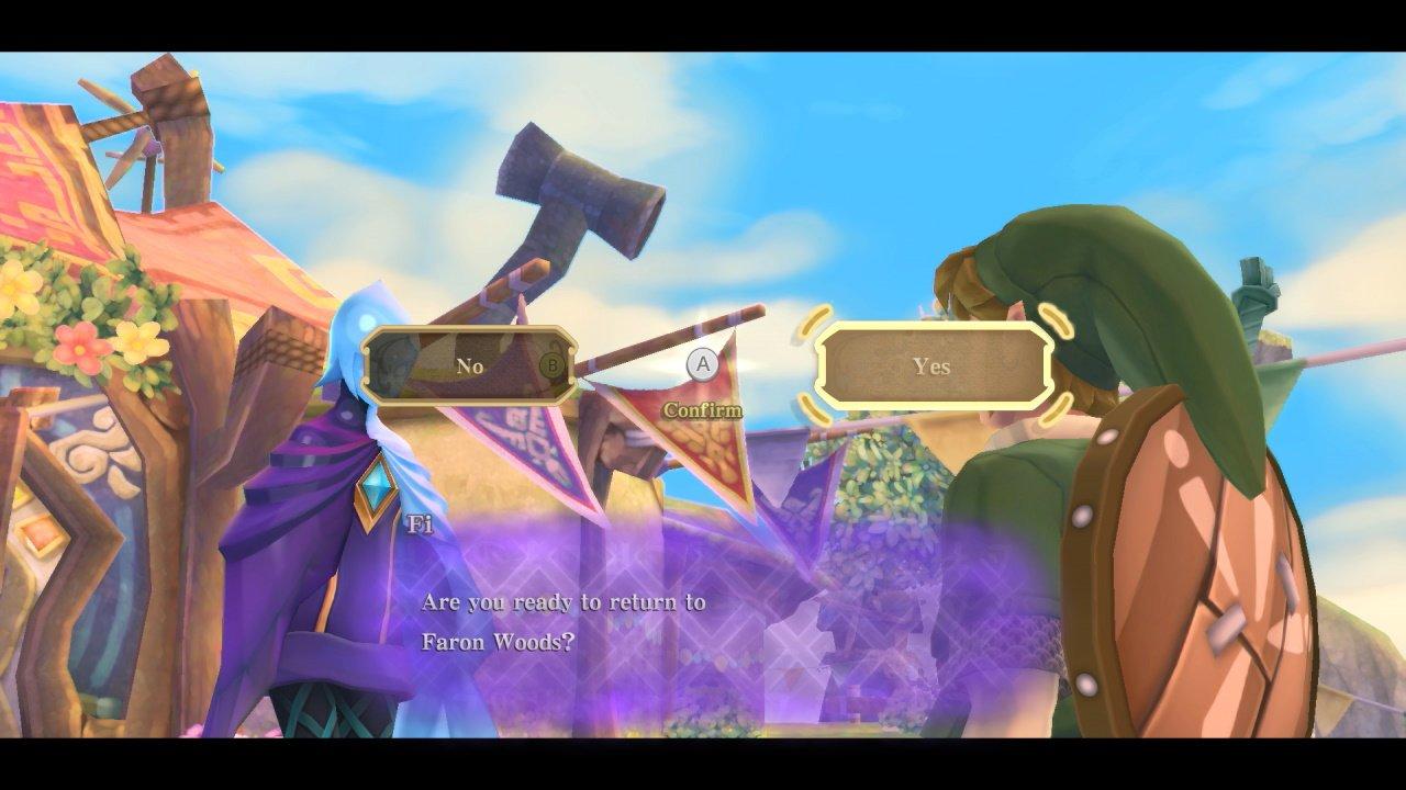 Skyward Sword amiibo fast travel zelda and loftwing switch