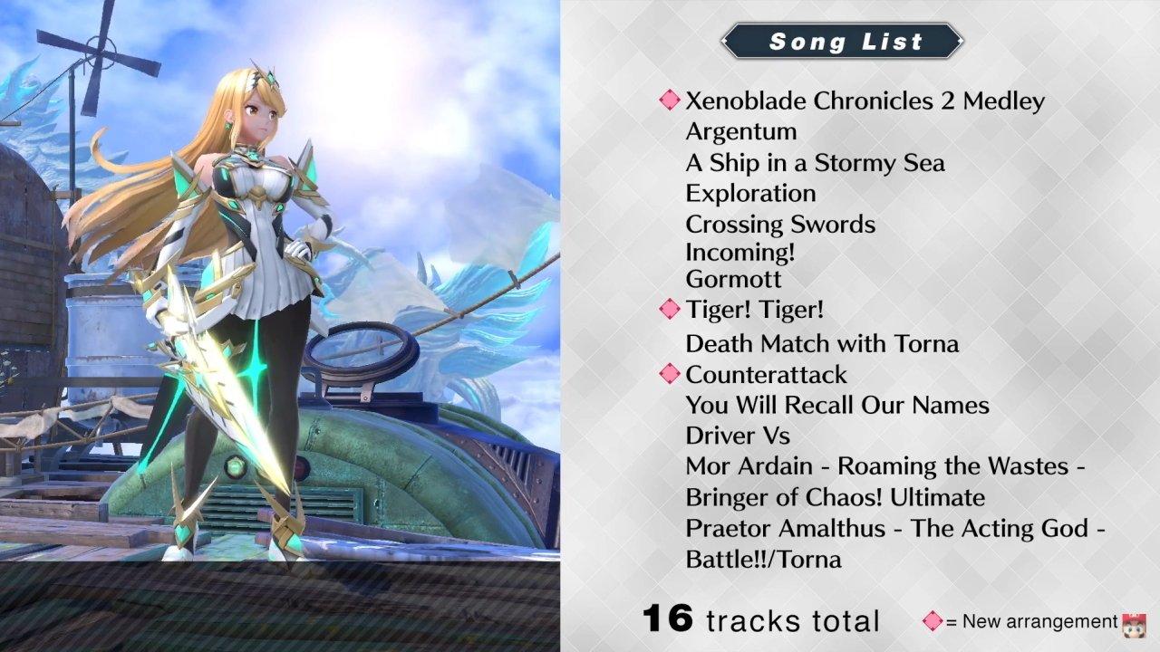 Pyra Mythra Xenoblade Chronicles 2 song list cloud sea of altea