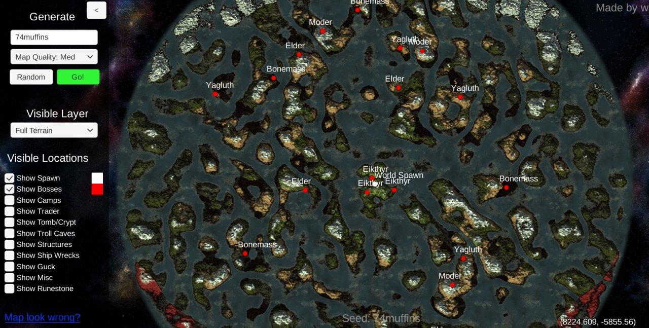 Valheim map generator