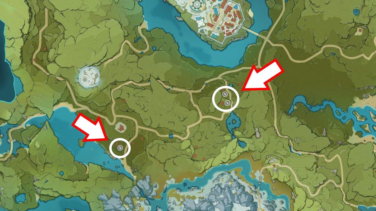 Where to find Radishes genshin Impact mondstadt