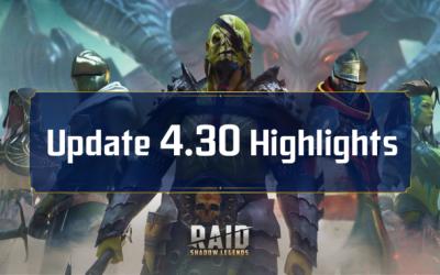 Raid Shadow Legends : Mise à jour 4.30 – Points forts